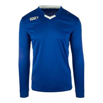 Afbeeldingen van Robey Hattrick Voetbalshirt - Blauw (Lange Mouwen)