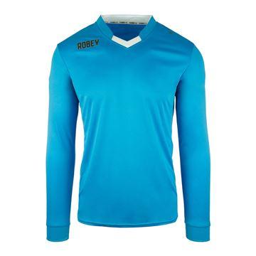 Afbeeldingen van Robey Hattrick Voetbalshirt - Licht Blauw (Lange Mouwen)