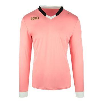 Afbeeldingen van Robey Hattrick Voetbalshirt - Roze (Lange Mouwen)