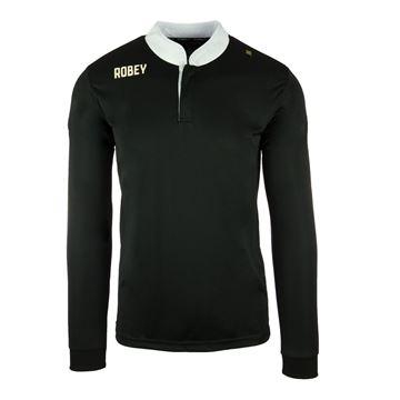 Afbeeldingen van Robey Kick Off Voetbalshirt - Zwart (Lange Mouwen)