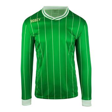 Afbeeldingen van Robey Pinstripe Voetbalshirt - Groen (Lange Mouwen)