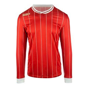 Afbeeldingen van Robey Pinstripe Voetbalshirt - Rood (Lange Mouwen)