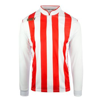 Afbeeldingen van Robey Winner Voetbalshirt - Rood/ Wit (Lange Mouwen)