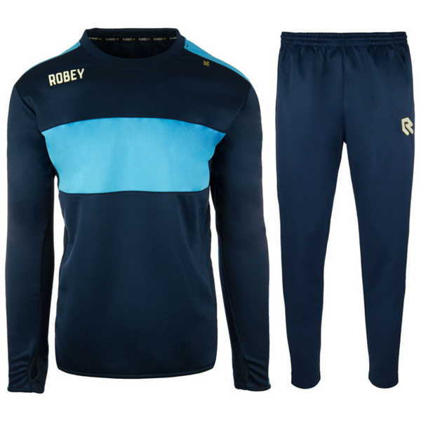 Afbeelding van Robey Sweat Performance Trainingspak - Navy Blauw/Blauw