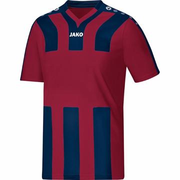 Afbeeldingen van JAKO Santos Shirt- Bordeaux Rood/Blauw