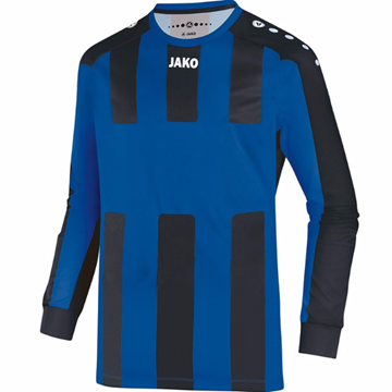 Afbeeldingen van JAKO Milan Shirt - Blauw/Zwart (Lange Mouwen)