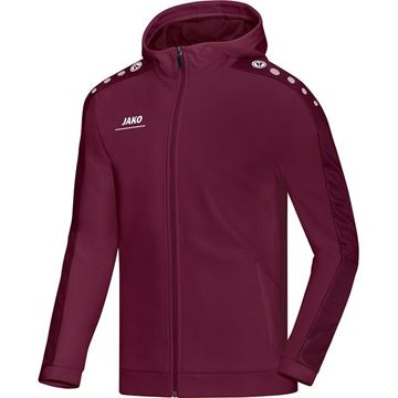 Afbeeldingen van JAKO Striker Hooded Trainingsjack - Bordeaux