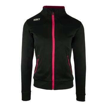 Afbeeldingen van Robey Striker Trainingsjack - Zwart/Roze - Dames