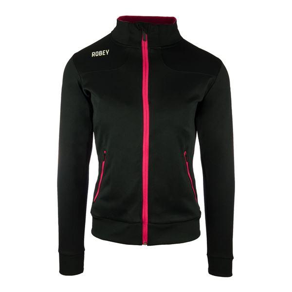 Afbeelding van Robey Striker Trainingsjack - Zwart/Roze - Dames
