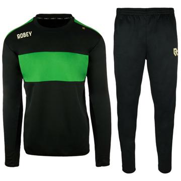 Afbeeldingen van Robey Sweat Performance Trainingspak - Zwart/Groen - Kinderen