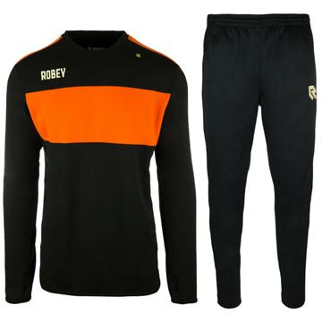 Afbeeldingen van Robey Sweat Performance Trainingspak - Zwart/Oranje - Kinderen