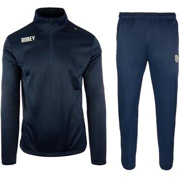 Afbeeldingen van Robey Premier Zip Trainingspak - Navy Blauw - Kinderen