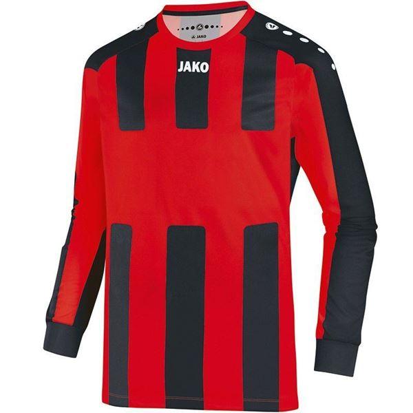 Afbeelding van JAKO Milan Shirt - Rood/Zwart (Lange Mouwen) - Kinderen