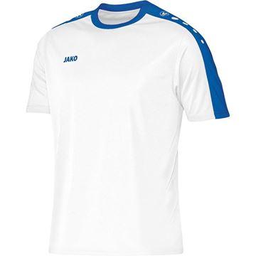 Afbeeldingen van JAKO Striker Shirt - Wit/Blauw - Kinderen