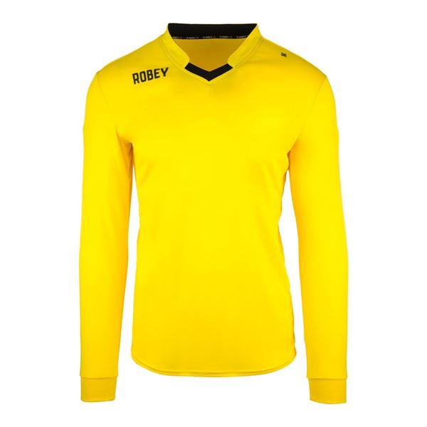 Afbeelding van Robey Hattrick Voetbalshirt - Geel (Lange Mouwen) - Kinderen