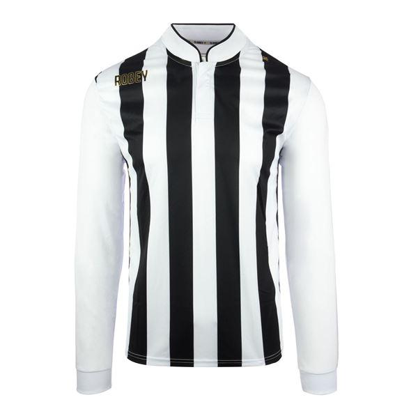 Afbeelding van Robey Winner Voetbalshirt - Zwart/ Wit (Lange Mouwen) - Kinderen