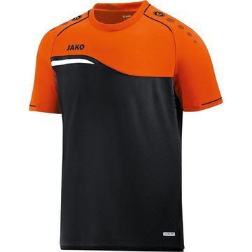 Afbeeldingen van Jako Competition Shirt - Zwart - Oranje - Kinderen