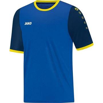Afbeeldingen van JAKO LEEDS Shirt - Navy blauw/citroen